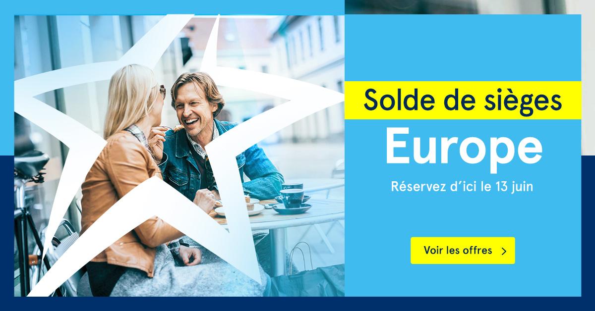 Retour du solde de sièges Europe d'Air Transat