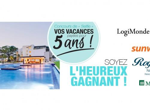 LogiMonde media vous offre la chance de gagner vos vacances pendant 5 ans!