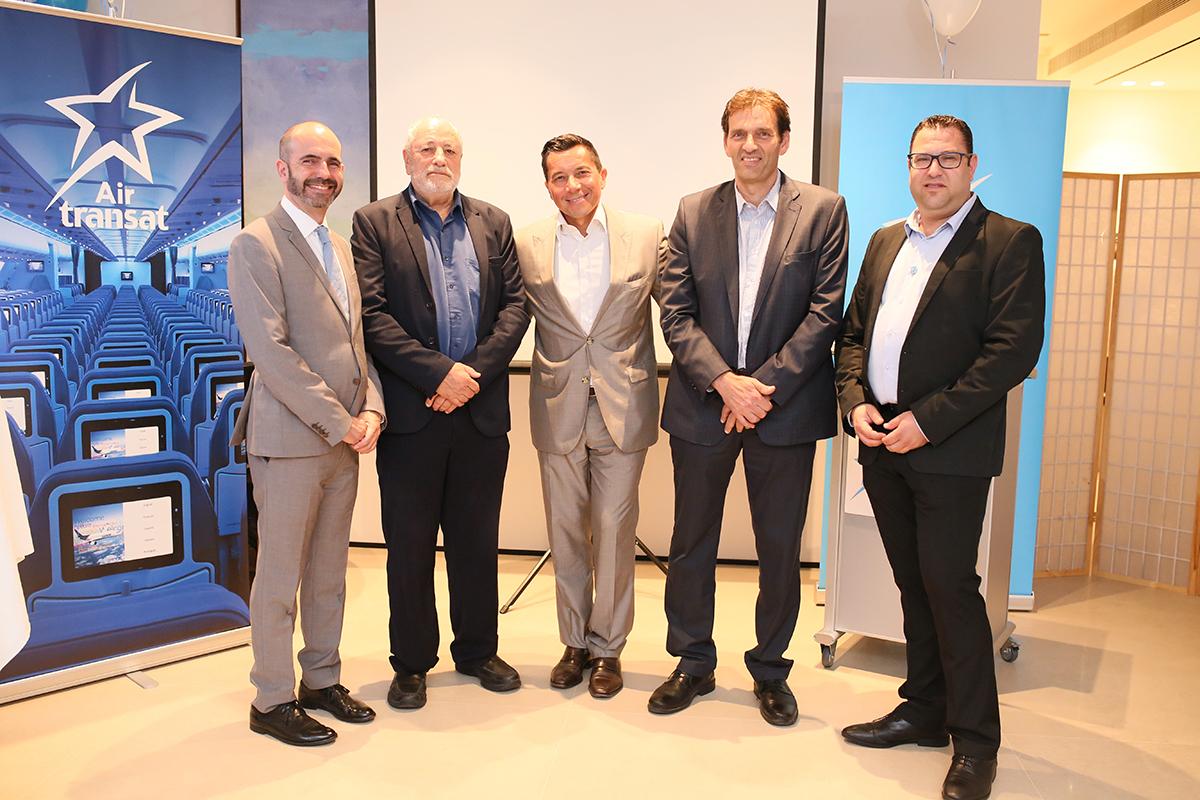 Air Transat célèbre le premier vol direct de Montréal vers Tel Aviv
