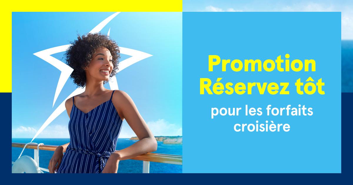 """Forfaits croisière: promotion """"Réservez tôt"""" de Transat"""