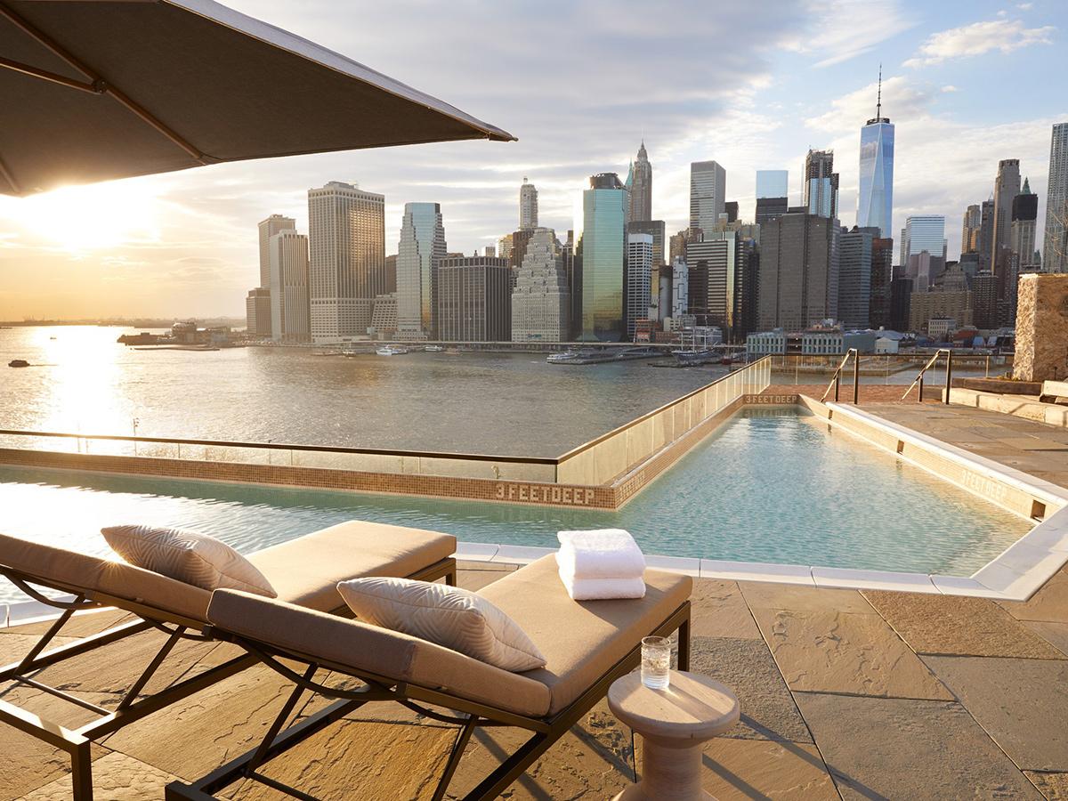 Les plus belles piscines d'hôtels new yorkais