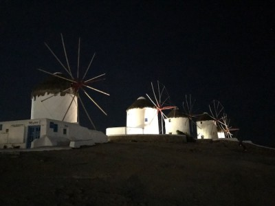 Myconos by night