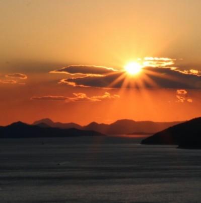 merveilleux coucher de soleil Dubrovnik