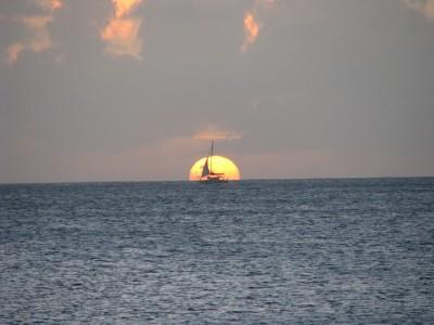 Soleil couchant de Rodney Bay, Ste-Lucie