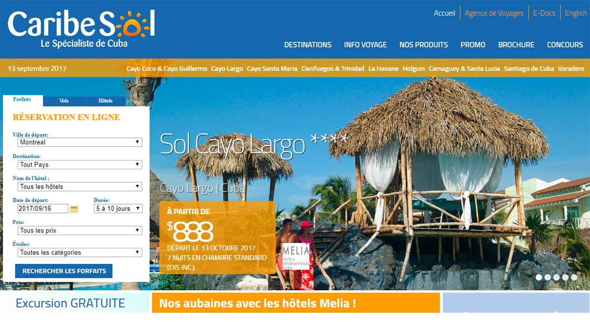 Caribe Sol annule ses vols vers Cayo Coco et Cayo Santa Maria
