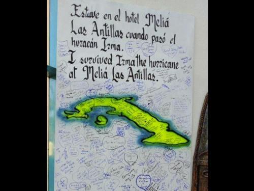Une murale pour Irma au Meliá Las Antillas de Varadero