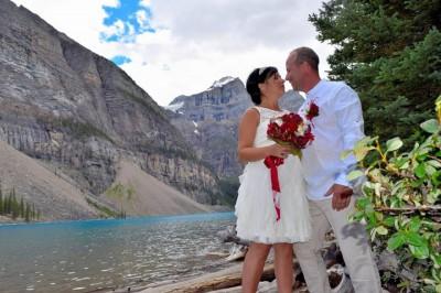 Mariage au Moraine Lake