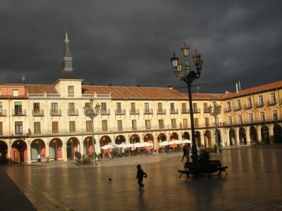 """Relaxation """"Plaza Mayor"""" Leon, Espagne"""