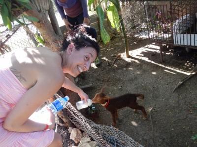 Visite d'un mini zoo à Holguin, Cuba