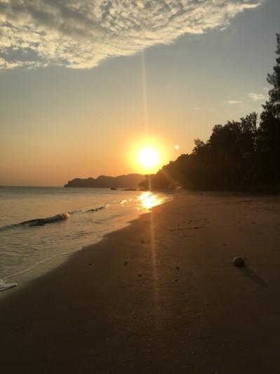 Coucher du soleil en Thaïlande