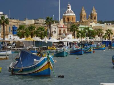 Malte, port de pêcheurs de Marsaxlokk