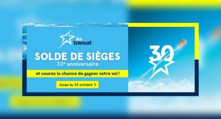 Air Transat : Cubamania et solde de sièges 30e anniversaire