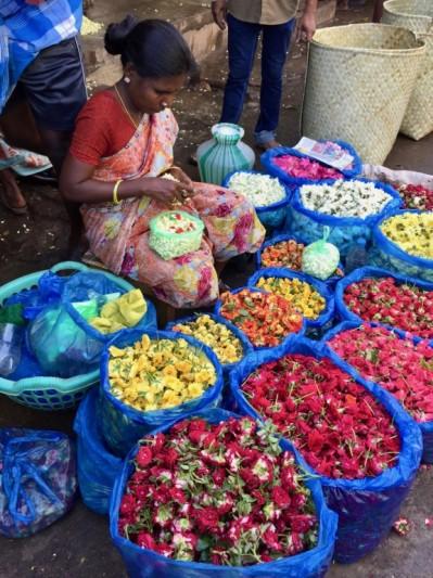 Marché aux fleurs _ Inde du Sud