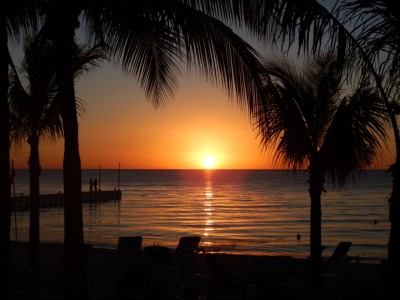 Coucher de soleil à Cozumel