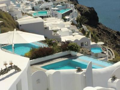 Bleu et blanc Santorini