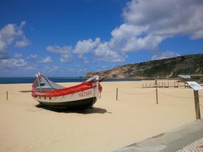 La barque, Nazare, Portugal