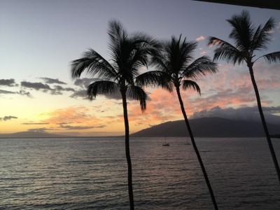 Coucher de soleil hawaien
