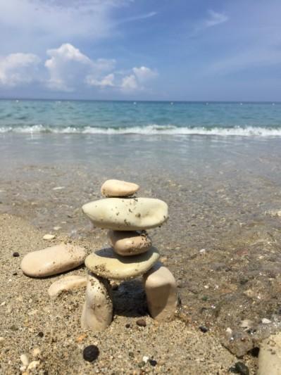 Pyramide de roches rituels