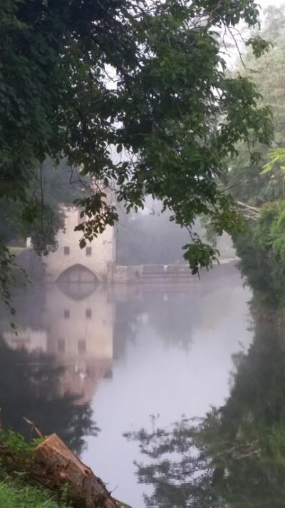 Brume matinale - Route de Cahors- France