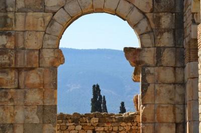 Ruine Romaine de Volubilis au Maroc