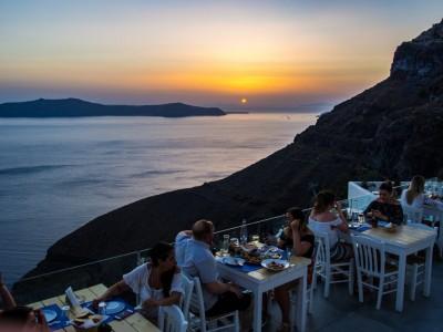 Coucher de soleil à Santorini