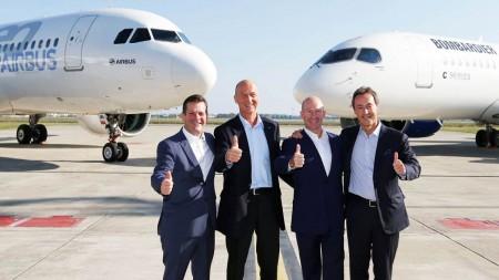 La C Series de Bombardier maintenant sous la gouverne d'Airbus