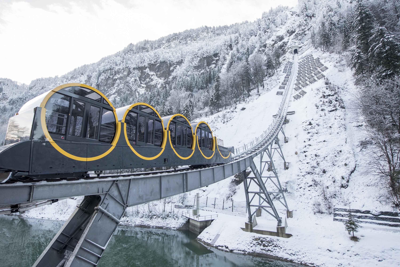 La Suisse se dote du funiculaire le plus incliné du monde