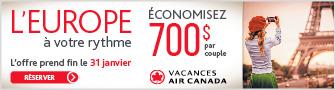 Air Canada Vacations - Bloc - Dec 18