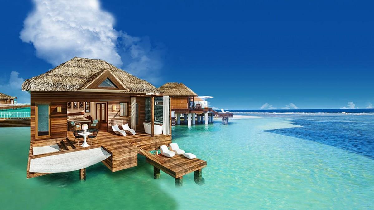 De nouveaux bungalows sur l'eau en Jamaïque