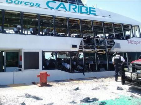Trois Canadiens blessés dans l'explosion d'un traversier à Playa del Carmen