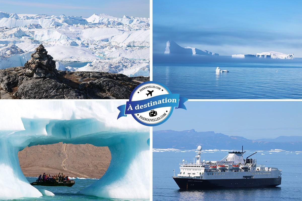 PAX à destination: croisière entre les icebergs du Groenland