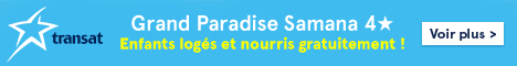 Transat website - Standard banner  April 18