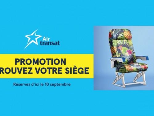 Air Transat: promotion trouvez votre siège