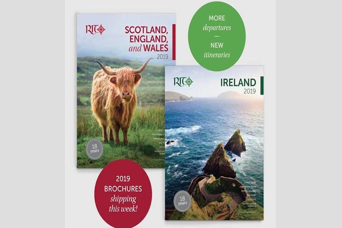 Coup d'œil sur les nouvelles brochures de Royal Irish Tours