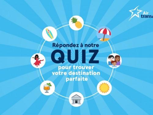 Air Transat lance son quiz Clic Vacances