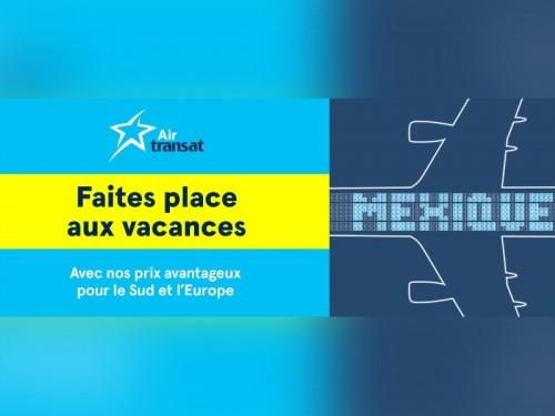 Air Transat présente sa promotion Faites places aux vacances