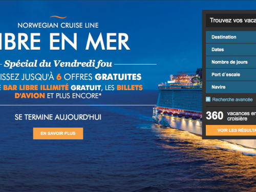 Vols gratuits ou réduits dans le programme Libre en mer de NCL
