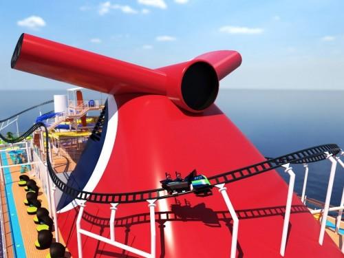 Le nouveau navire de Carnival aura une... montagne russe!