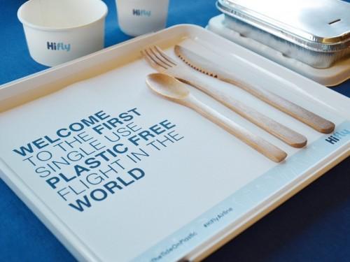 Première mondiale : un vol transatlantique sans aucun plastique