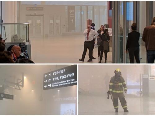 Incendie à l'aéroport Pearson : passagers évacués, vols annulés