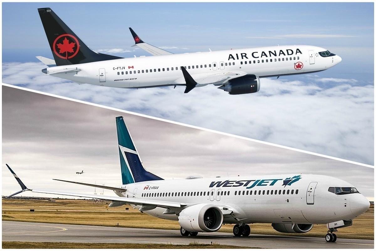 Air Canada et WestJet déploient d'autres avions pour remplacer les Boeing Max 8