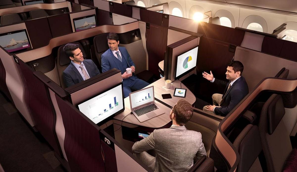 EXCLUSIF : PAX teste la Qsuite de Qatar Airways
