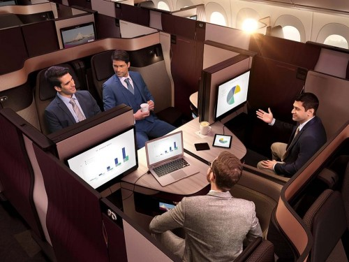 EXCLUSIF : PAX teste la Qsuite de Qatar Airways