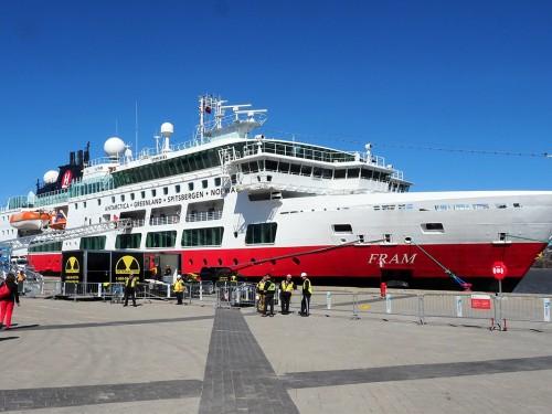 Le paquebot norvégien MS Fram lance la saison des croisières 2019 à Québec