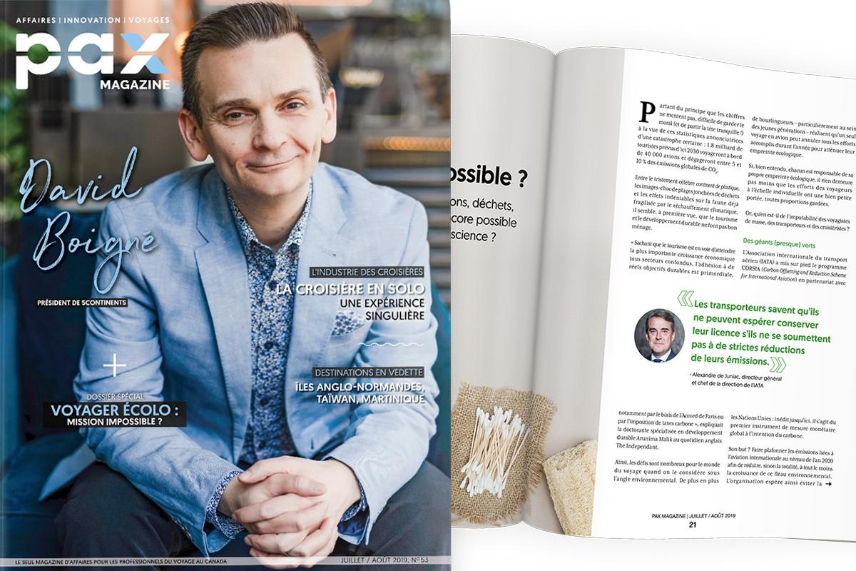 L'édition de juillet/août 2019 de PAX magazine est maintenant disponible! ; PAX à destination : le bien nommé Club Med Arcs Panorama