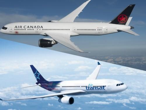 De grands acteurs de l'économie encensent Air Canada et Transat