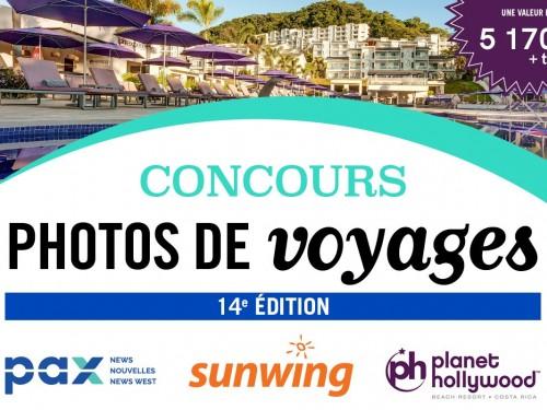 Le concours photos PAX - Sunwing est de retour!