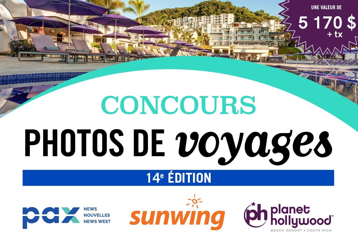 Concours Photos de voyages PAX - Sunwing 2019