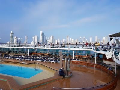 vue du bateau de la ville de Carthagène