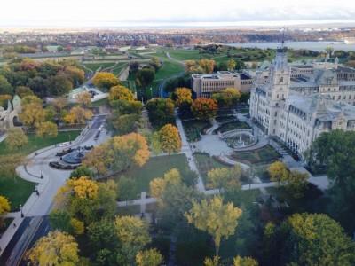 Parlement Québec, vue du Hilton